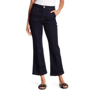 Frame Denim Le Ankle Flare Jeans Foxdale Dark Wash